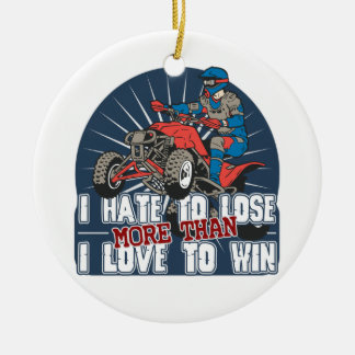 Hate to Lose ATV Christmas Ornament