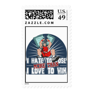 Hate to Lose Basketball Postage Stamps