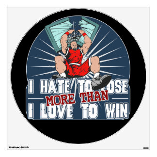Hate to Lose Basketball Wall Sticker