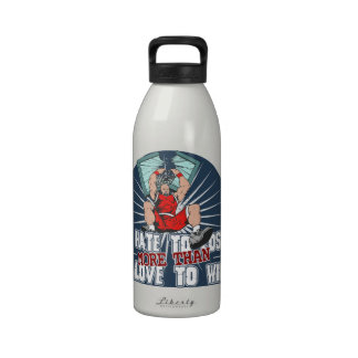 Hate to Lose Basketball Reusable Water Bottle