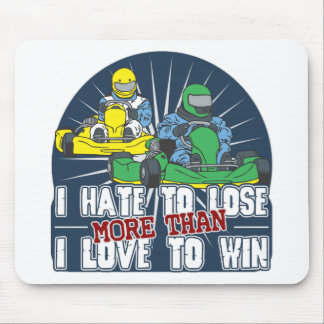 Hate to Lose Kart Mouse Pad