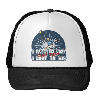 Hate to Lose Mens Tennis Trucker Hat