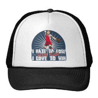 Hate to Lose Softball Trucker Hat