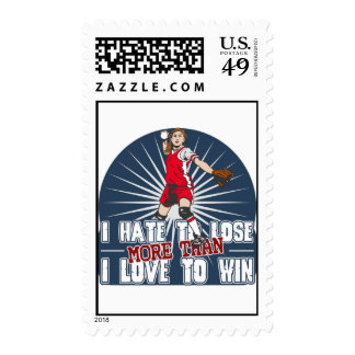 Hate to Lose Softball Postage Stamps