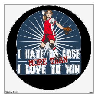 Hate to Lose Softball Room Graphics
