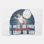 Hate to Lose Womens Volleyball Hand Towel