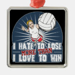 Hate to Lose Womens Volleyball Ornaments