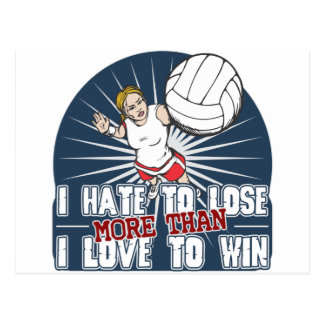 Hate to Lose Womens Volleyball Postcard