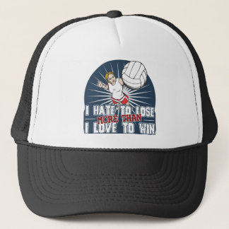 Hate to Lose Womens Volleyball Trucker Hat