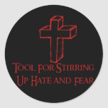 Hate Tool Round Sticker