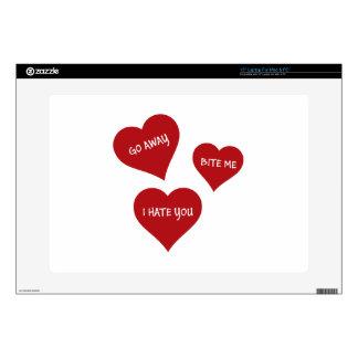 "Hate Valentines 15"" Laptop Skins"