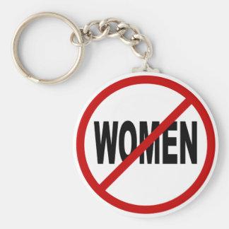 Hate Women/No Women Allowed Sign Statement Keychain
