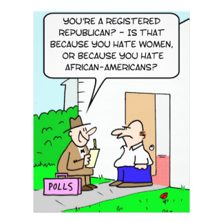 hate women republican african americans flyer design