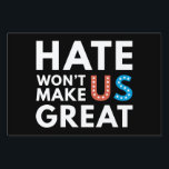 "Hate Won't Make US Great Lawn Sign<br><div class=""desc"">Hate Won't Make US Great</div>"