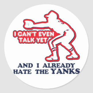 Hate Yankees Baby Classic Round Sticker