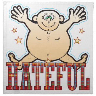 Hateful Fat Man Cloth Napkin