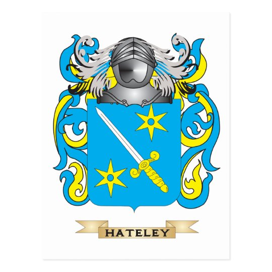 Hateley Coat of Arms (Family Crest) Postcard
