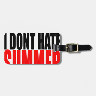 hater summer end vacation flirt romance couple red luggage tag