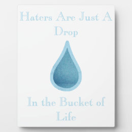 Haters Are Just a Drop Plaque