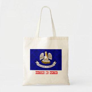Haters be hatin Louisiana Tote Bag