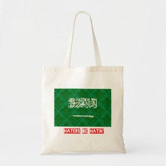 Haters be hatin Saudi Arabia Tote Bag