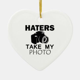 haters design ceramic ornament