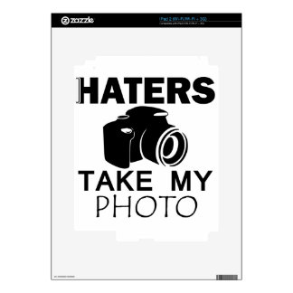 haters design decals for iPad 2