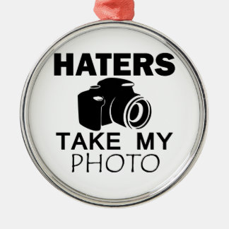 haters design metal ornament