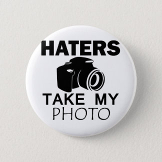 haters design pinback button