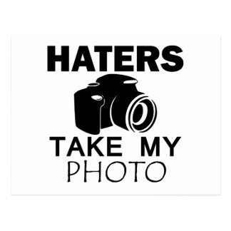 haters design postcard