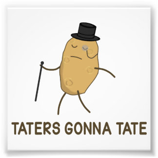 Haters Gonna Hate and Taters Gonna Tate Photo Art