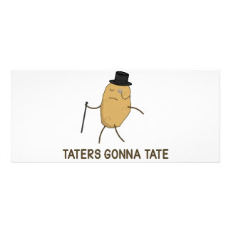 Haters Gonna Hate and Taters Gonna Tate Custom Rack Cards