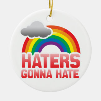 HATERS GONNA HATE Double-Sided CERAMIC ROUND CHRISTMAS ORNAMENT