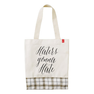 Haters Gonna Hate Modern Calligraphy HEART Bag