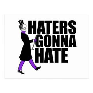 Haters Gonna Hate my purple pants Postcard