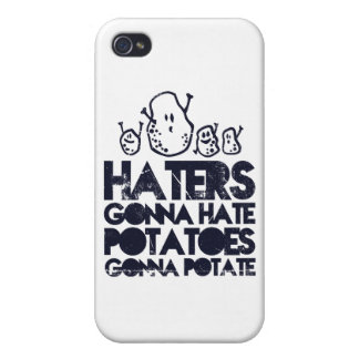 Haters gonna hate, potatoes gonna potate covers for iPhone 4