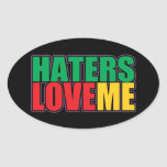 Haters Love Me Oval Stickers