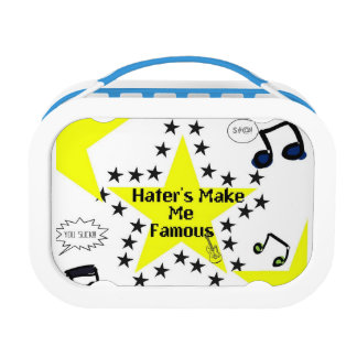 Haters make me famous lunchbox