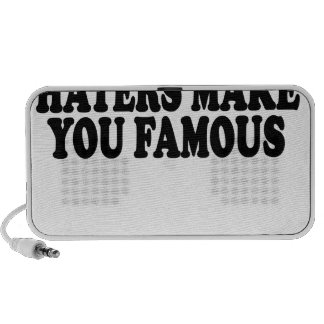Haters make you famous T-Shirts.png iPhone Speakers