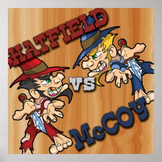 Hatfield contra el poster de McCoy