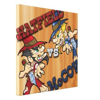 Hatfield contra el X12 de McCoy 12 Lona Envuelta Para Galerias