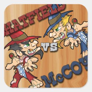 Hatfield contra los pegatinas de McCoy Pegatina Cuadrada