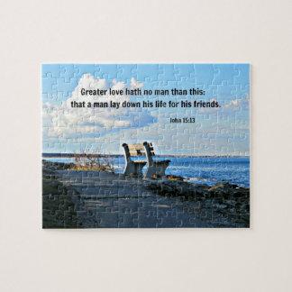 Hath del amor del 15:13 de Juan mayor ningún hombr Puzzles Con Fotos