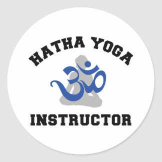 Hatha Yoga Instructor Classic Round Sticker