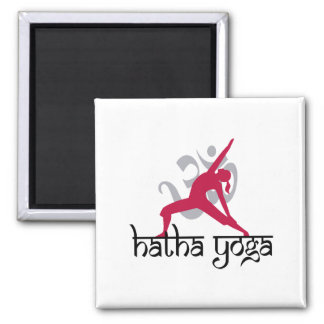 Hatha Yoga Pose 2 Inch Square Magnet