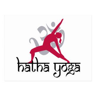 Hatha Yoga Pose Post Card