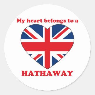 Hathaway Classic Round Sticker