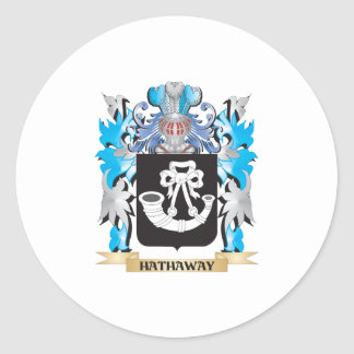 Hathaway Coat of Arms - Family Crest Classic Round Sticker
