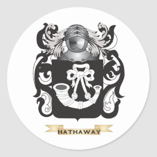 Hathaway Coat of Arms (Family Crest) Classic Round Sticker