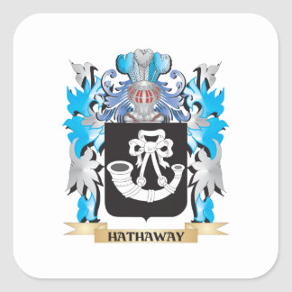 Hathaway Coat of Arms - Family Crest Square Sticker